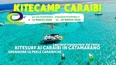 Kitecamp Caraibi in Catamarano